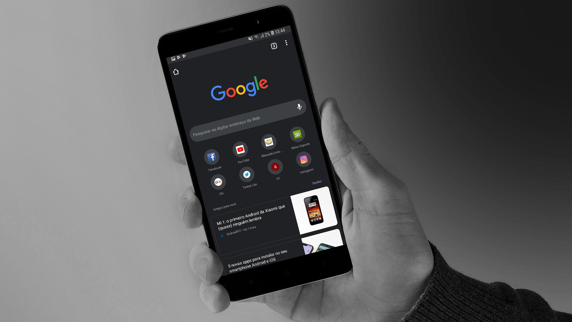 google chrome dark mode android