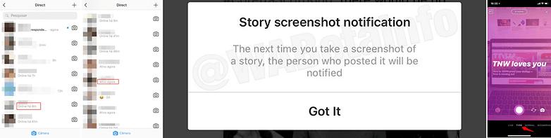 instagram last udate status on alert side