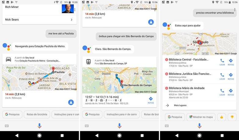 mapas locais google assistente