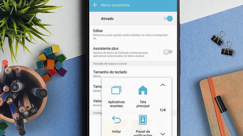 menu assistente acessibilidade dicas