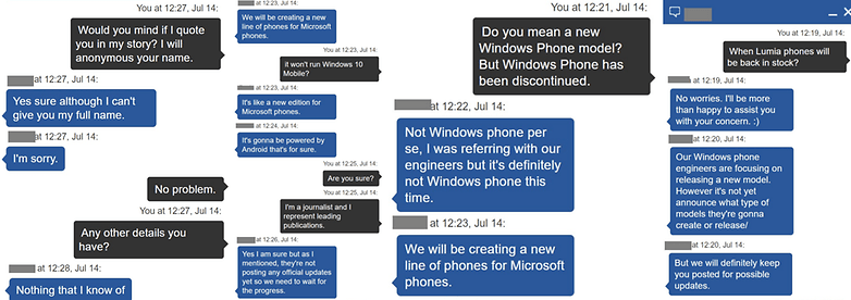 microsoft android phone 4 side