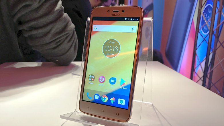 moto c plus front new