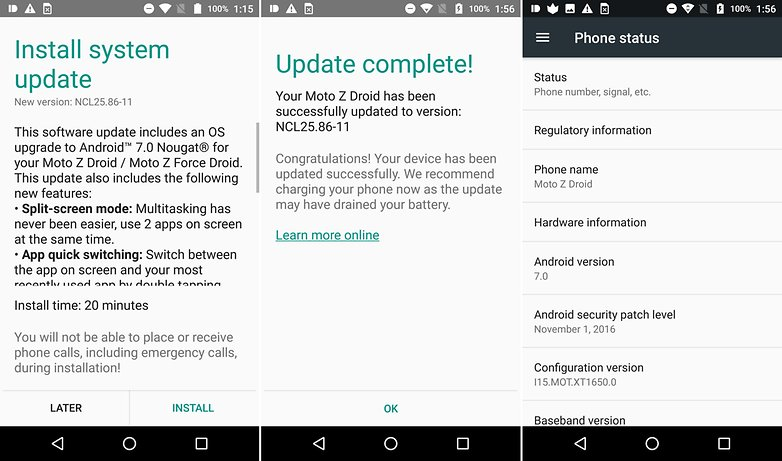 moto z android update android police