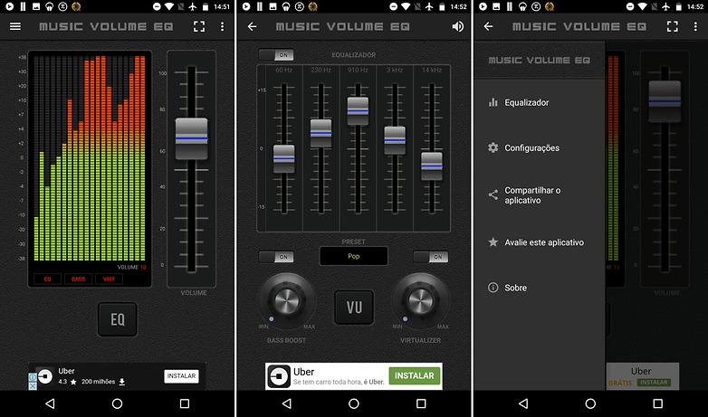 equalizador de volume para celular