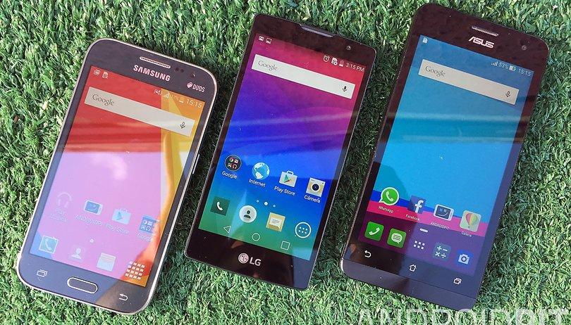 Samsung Galaxy Gran Prime Duos vs. Asus Zenfone 5 vs. LG Volt: comparativo de especificações