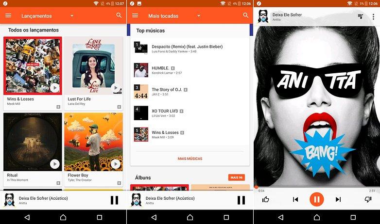 play musica test list apps