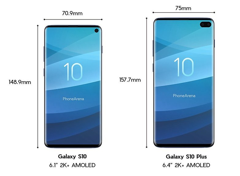 samsung galaxy s10 plus size dimensions