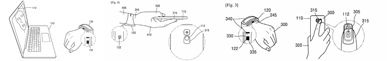 samsung patent bloodflow authentication 3 side side