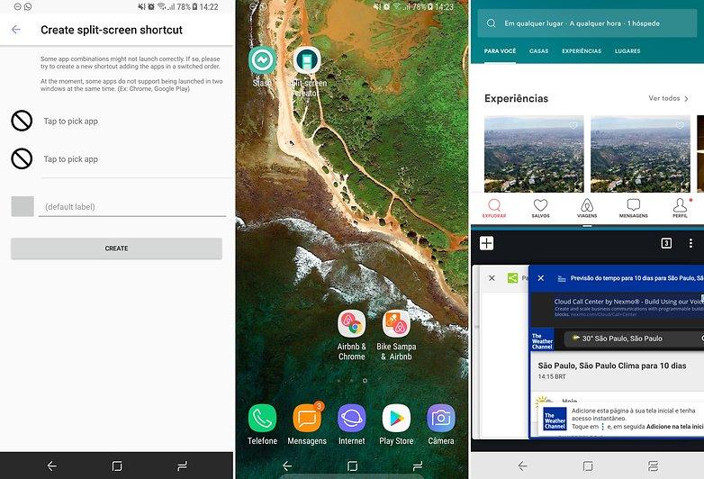 split screen app view