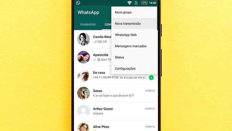 transmissao whatsapp new tips
