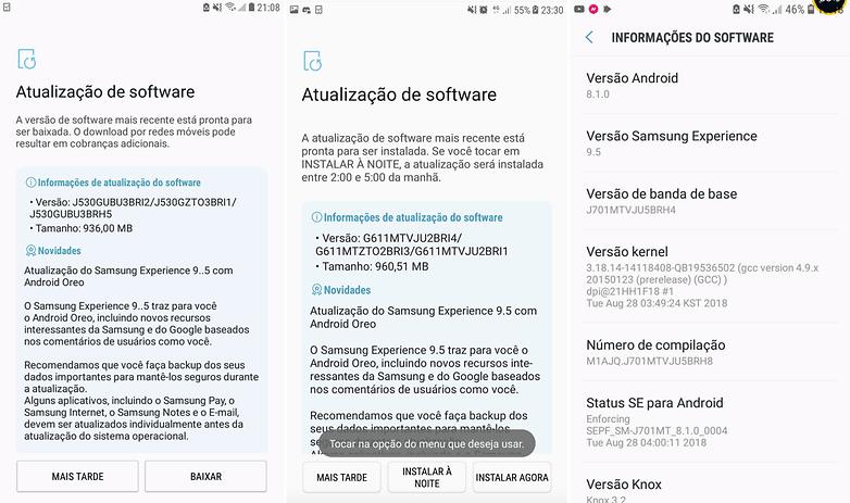 Android Oreo está chegando para os Galaxy J5 Prime e J7 Prime (2016