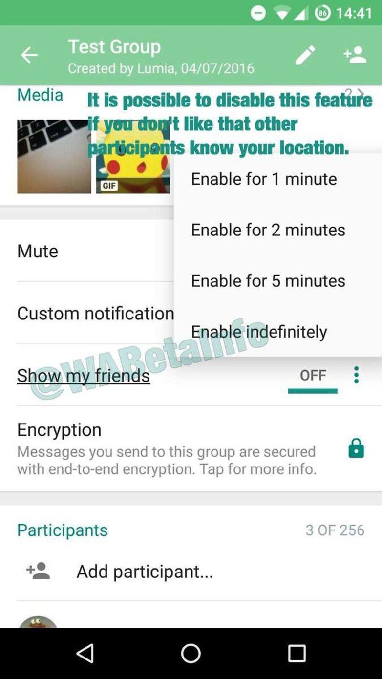 whatsapp location
