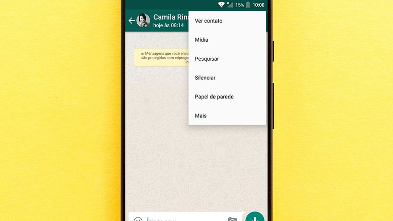 whatsapp opcoes contatos front