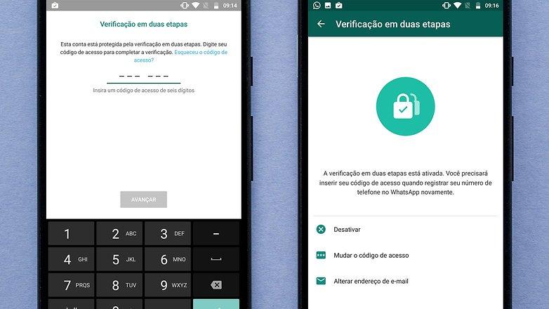 whatsapp verifi duas etapas