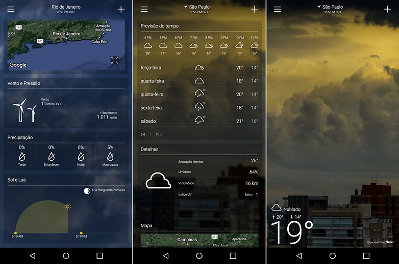 yahoo tempo app list weather