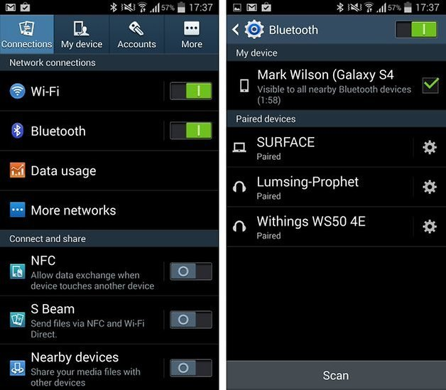Image result for Wifi and bluetooth in phone