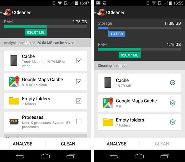 How to free up storage space on the moto x 2013 androidpit clean moto x 2 for a quick and easy fix ccleaner saves hunting your phone for settings androidpit ccuart Choice Image
