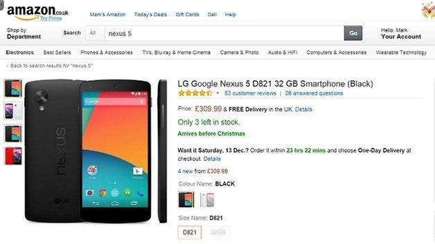 nexus 5 amazon