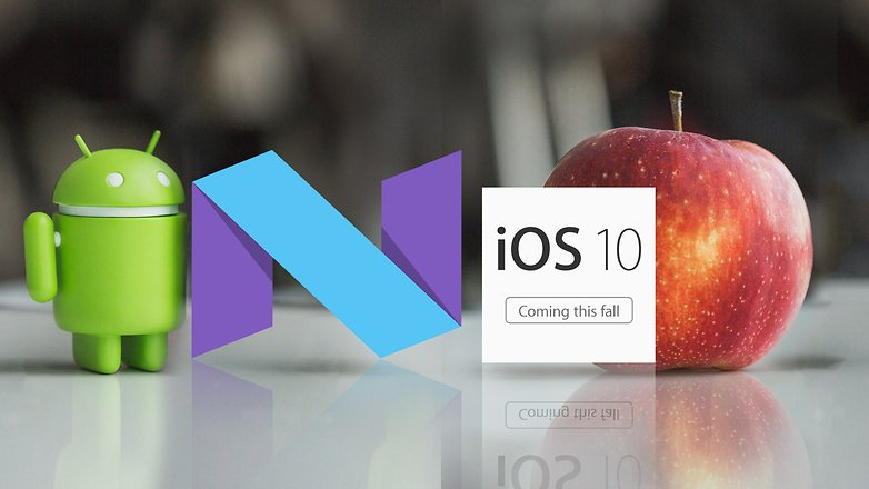 AndroidPIT android N vs iOS 10