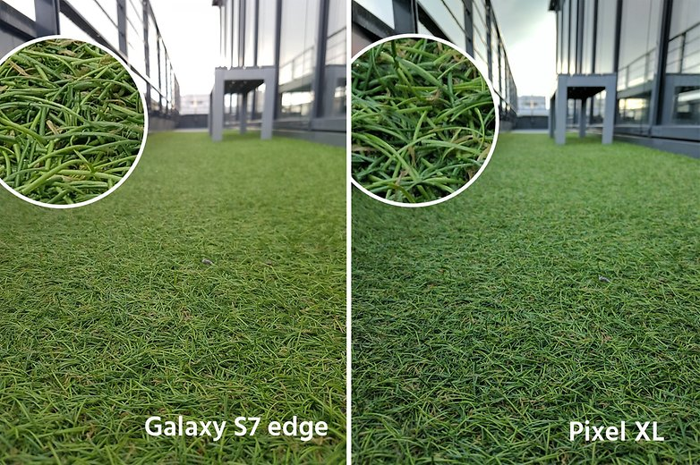 AndroidPIt google pixel XL vs samsung galaxy s7 edge grass