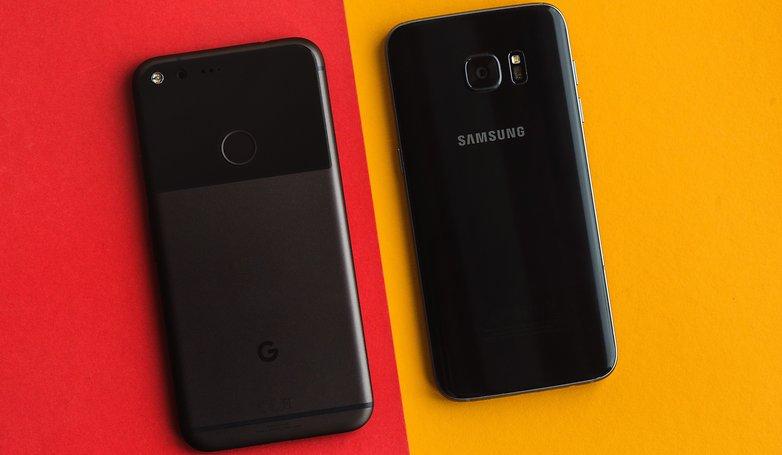 AndroidPIT Galaxy S7 Edge vs Pixel XL 0250