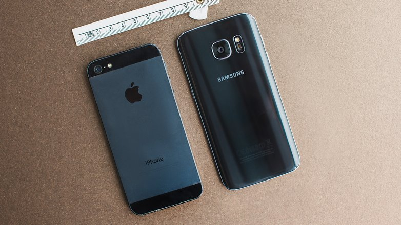 AndroidPIT iPhone 5s vs Samsung S7 mini 1a