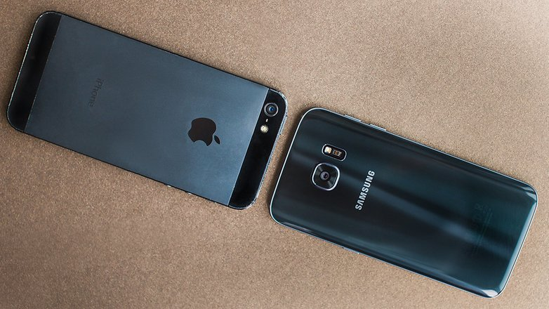 AndroidPIT iPhone 5s vs Samsung S7 mini 3a
