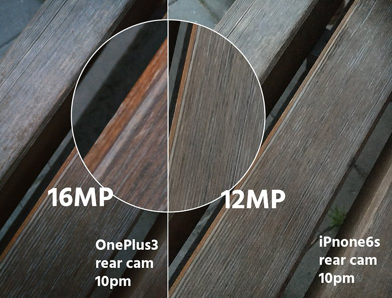 AndroidPIT OnePlus3 vs iPhone 6s rear cam 10 pm