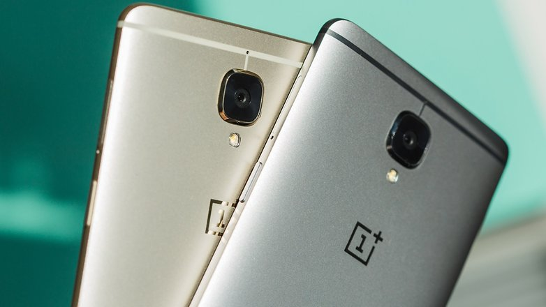 AndroidPIT OnePlus3 soft gold vs gray silver 6643