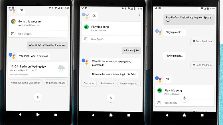 AndroidPIT Google pixel XL google assistant tripple