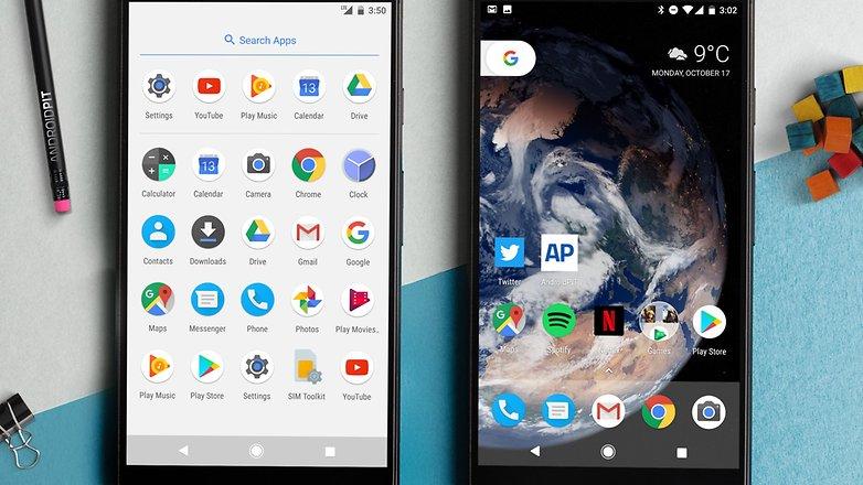 AndroidPIT Google pixel XL menu