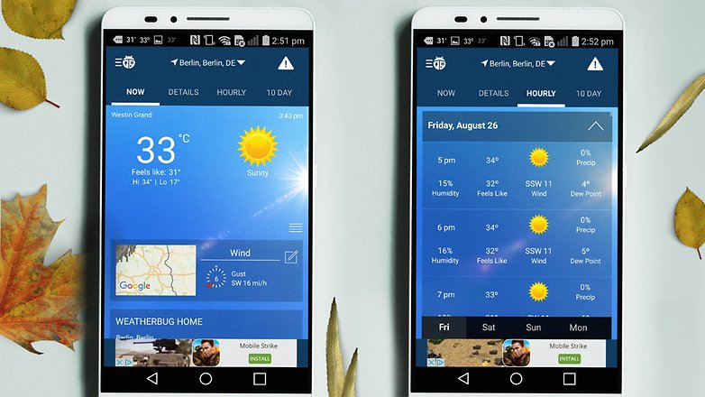migliori app e widget per il meteo non uscirete pi senza ombrello androidpit. Black Bedroom Furniture Sets. Home Design Ideas