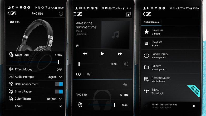 AndroidPIT Sennheiser PCX 550 screenshots