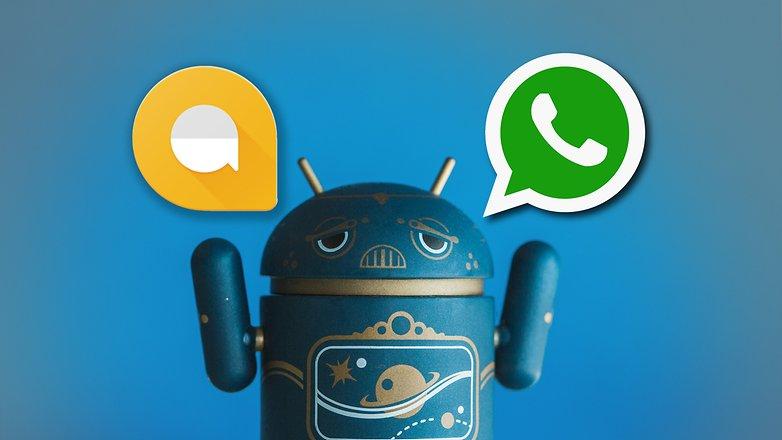 AndroidPIT allo vs whatsapp