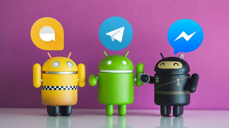 AndroidPIT android collectibles telegram vs messenger vs allo