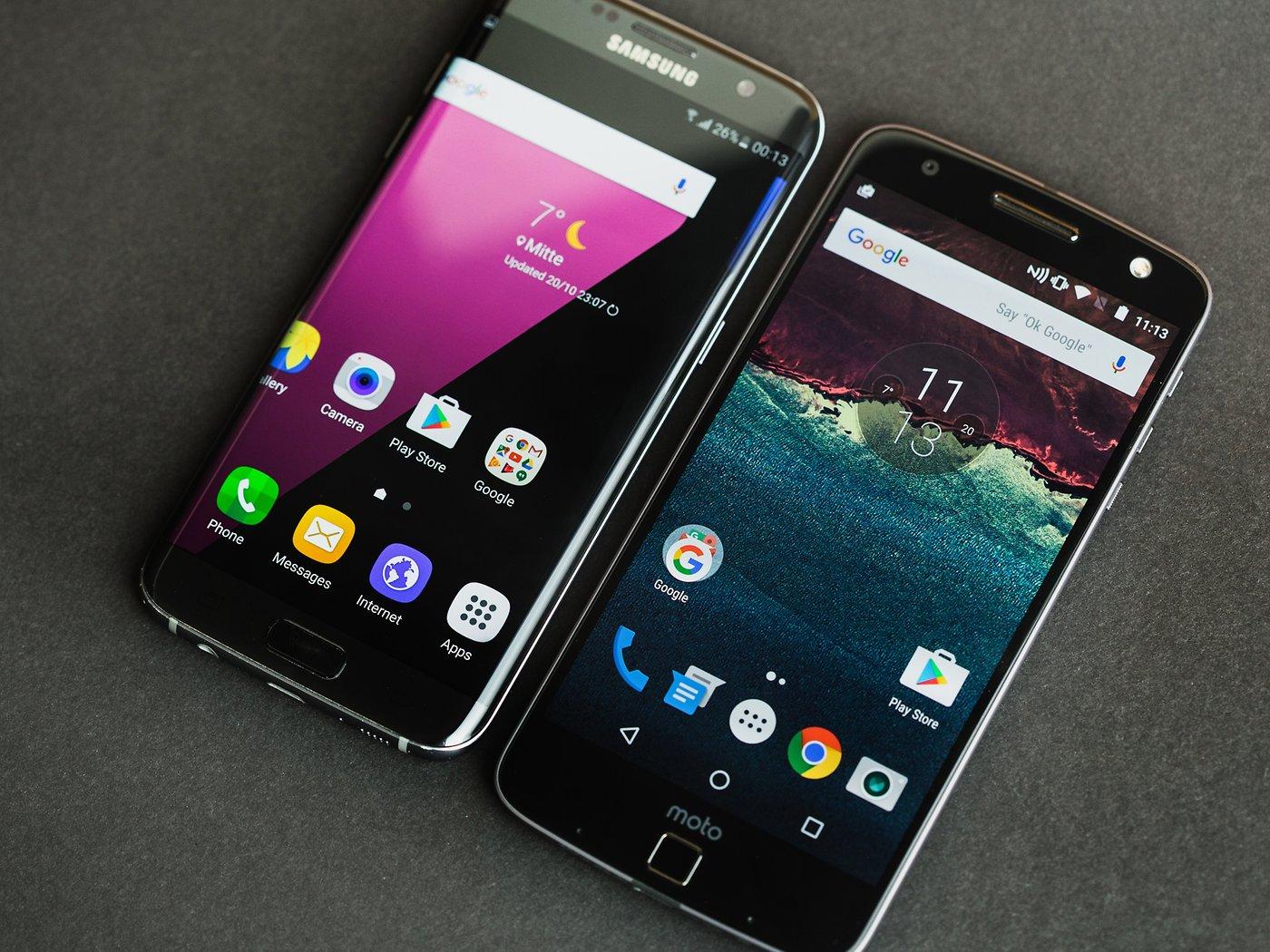 Lenovo Moto Z vs Samsung Galaxy S7 Edge: ¿Ha encontrado David a su ...