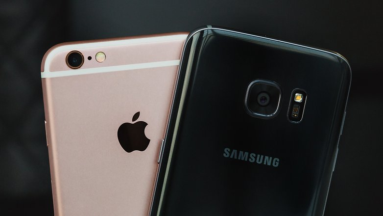 AndroidPIT galaxy s7 vs iphone 6 1 2