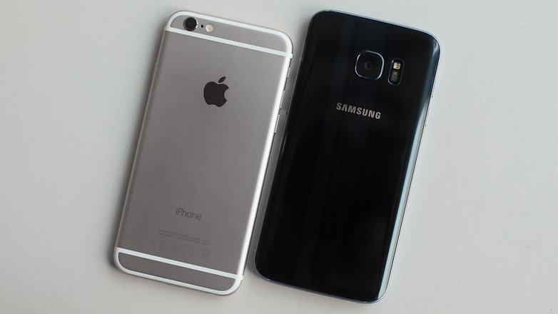 AndroidPIT galaxy s7 vs iphone 6 1