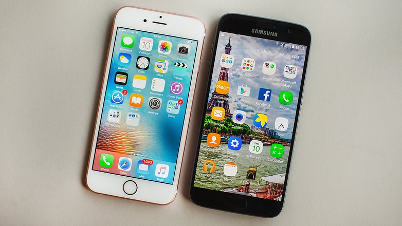 AndroidPIT galaxy s7 vs iphone 6 2