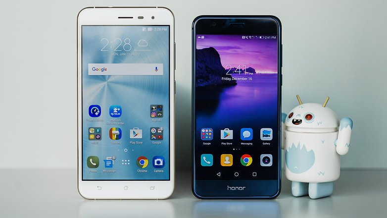 AndroidPIT honor 8 vs asus zenfone 3 2436