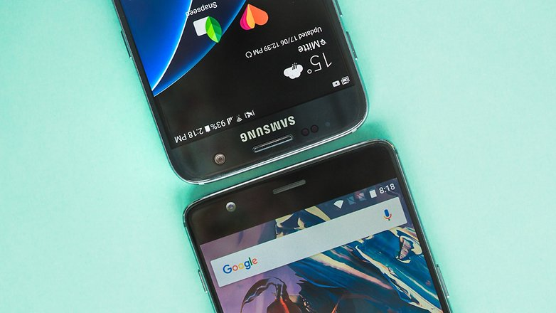 AndroidPIT oneplus 3 vs samsung galaxy s7 8799