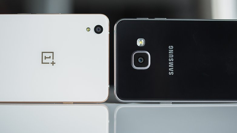 AndroidPIT samsung galaxy a3 2016 vs oneplus x 7