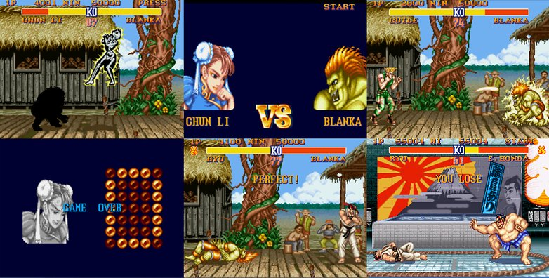 AndroidPIT throwback thursday street fighter printscreens
