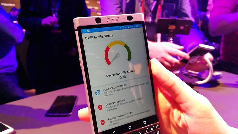 AndroidPIT BlackBerry KEYone security 2