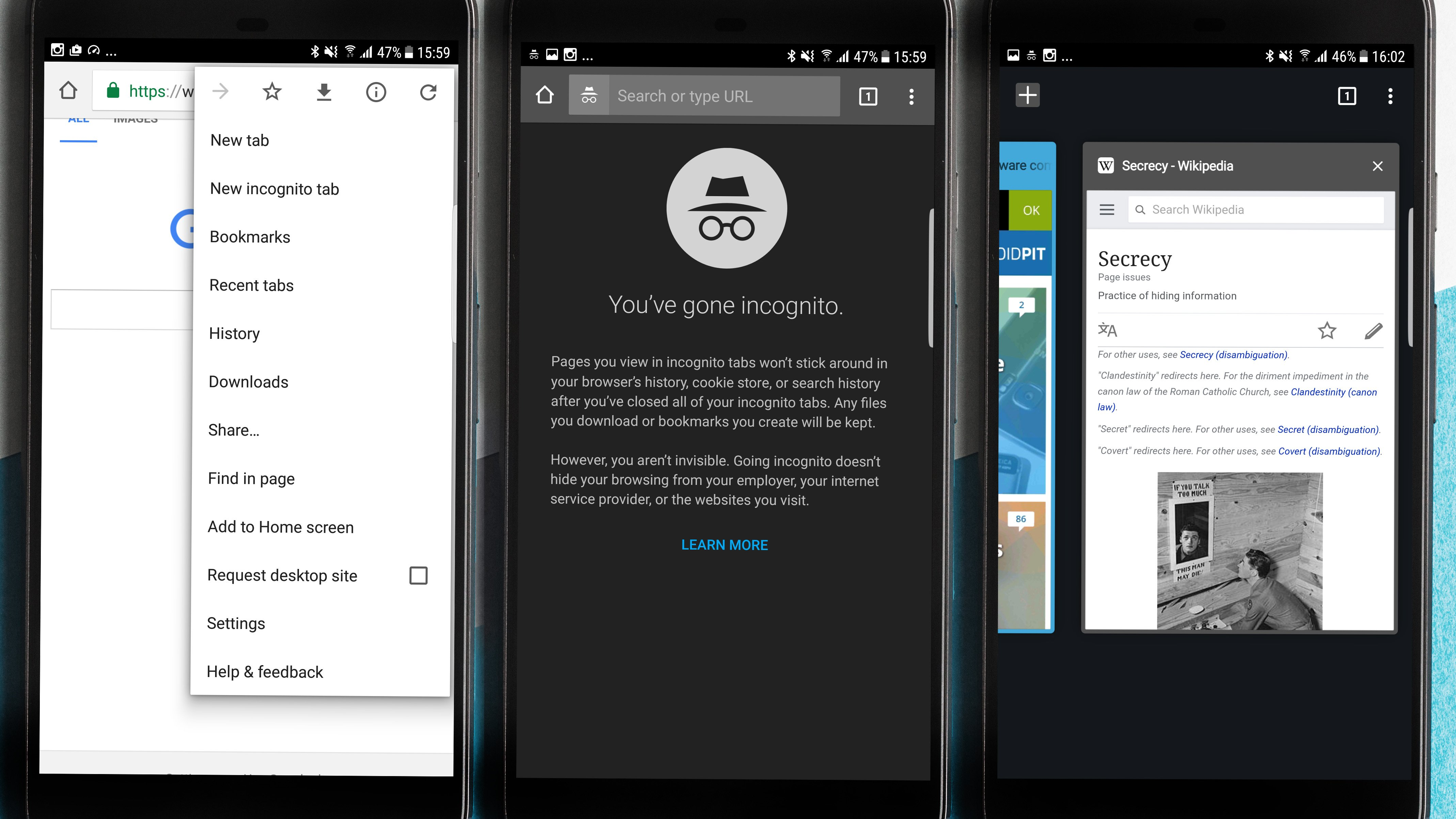 Private browsing: how to use incognito mode on Android