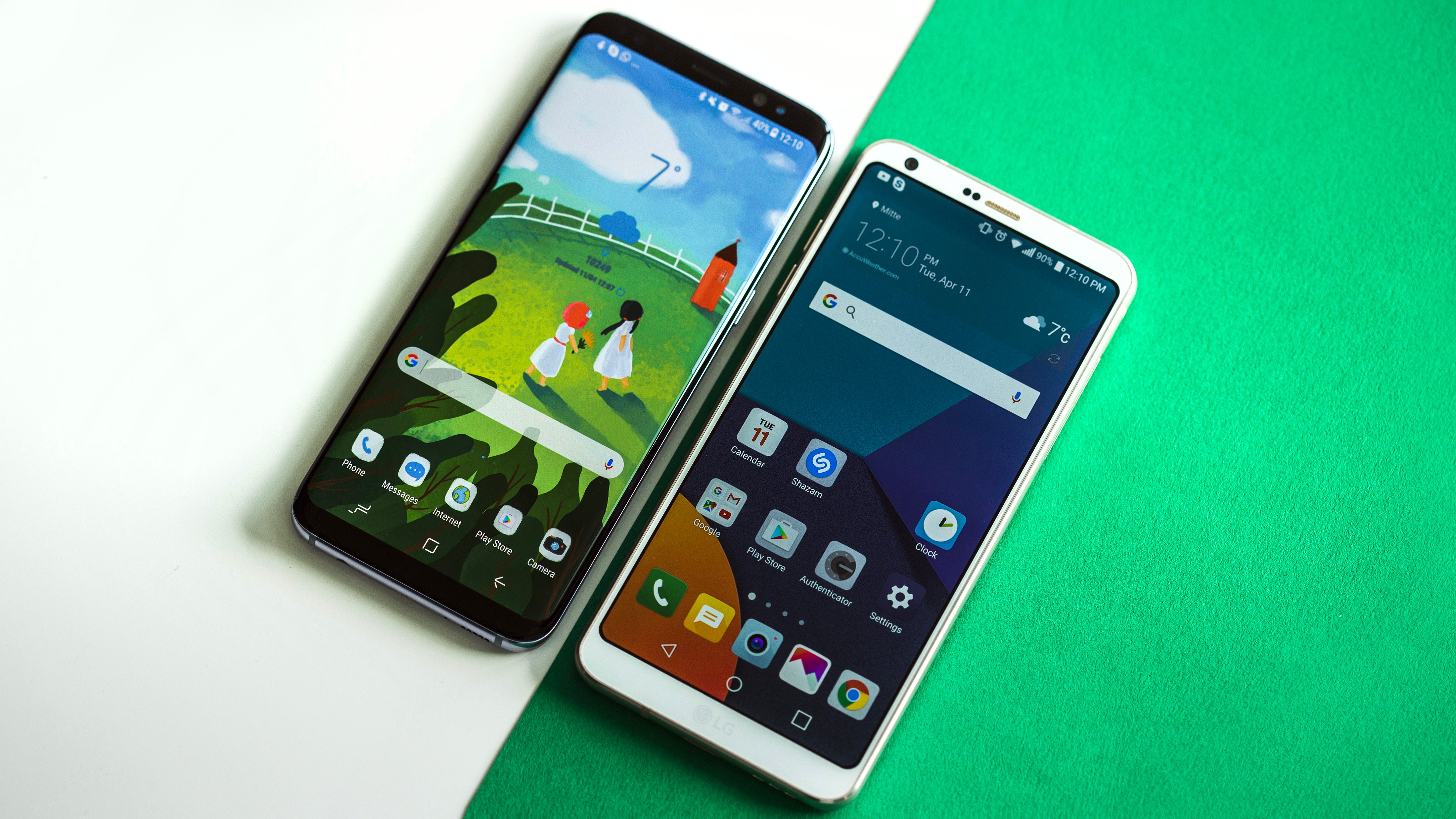 samsung galaxy s8 vs lg g6 un primo confronto con video. Black Bedroom Furniture Sets. Home Design Ideas