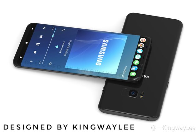 Designstudie Galaxy S8 von Kingway-Lee