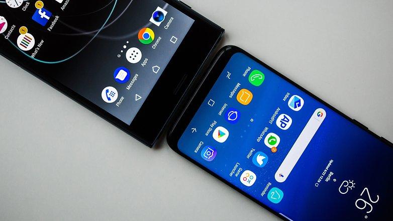 AndroidPIT Sony xperia XZ Premium vs Samsung galaxy s8 0620