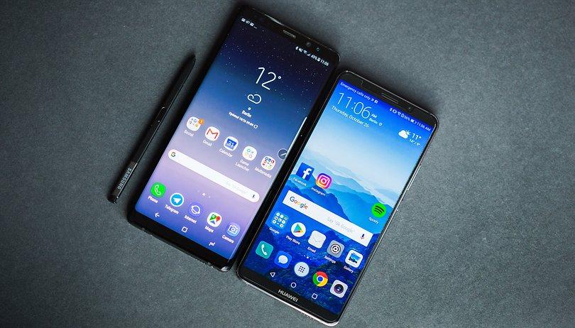 Huawei Mate 10 Pro vs Samsung Galaxy Note 8: similar, but