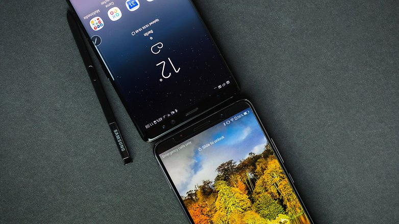 AndroidPIT galaxy note 8 vs huawei mate 10 pro 2442